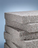 Cellulose insulation. Stack of cellulose insulation batt panels, made of recycled newspapers, used as building thermal insulation royalty free stock image