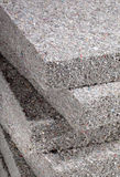 Cellulose Insulation. Stack of cellulose insulation batt panels, made of recycled newspapers, used as building thermal insulation stock image