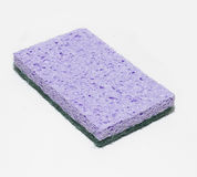Cellulose sponge. Violet cellulose sponge for household and kitchen work Stock Photography