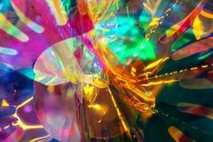 Celofán y fondo de las luces imágenes de archivo libres de regalías