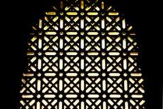 Celosía de las ventanas de la mezquita Fotografía de archivo libre de regalías
