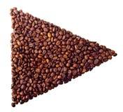 Celownicza 'sztuka' od Kawowych fasoli Obrazy Stock