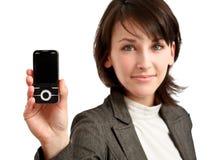 Celphone in der Hand Stockfotos