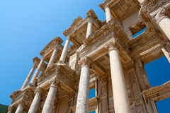 Celsius Library, Ephesus, Turkey Royalty Free Stock Photo