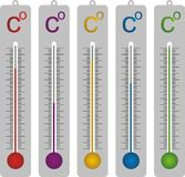 Celsius termometer Stock Photos