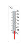 Celsius thermometer indicates low temperature Stock Image