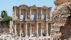 Celsiusbibliothek in Ephesus stockfotografie