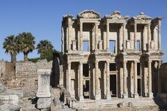 Celsus图书馆在以弗所, Selcuk,土耳其 免版税库存图片