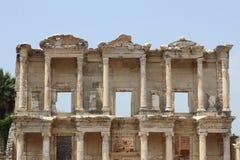 Celsus图书馆在以弗所的火鸡的 库存照片