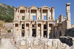 Celsus图书馆在以弗所,土耳其的 免版税库存图片