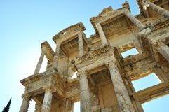 Celsus图书馆  免版税库存照片