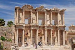 Celsus图书馆 图库摄影