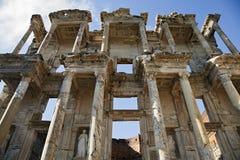 Celsus arkiv i Ephesus Royaltyfri Fotografi