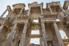 Celsus-Bibliothek in alter Stadt Ephesus, Selcuk, die Türkei stockbild