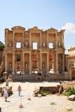 Celsus Bibliothek bei Ephesus Stockfoto