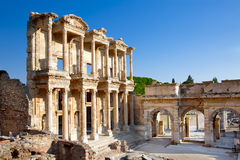 Celsus-Bibliothek in Ephesus Stockbilder