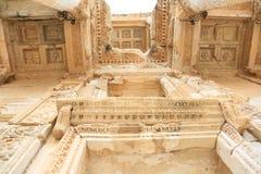 Celsus-Bibliothek in Ephesus Stockfotos