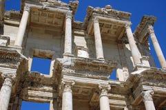 Celsus Bibliothek, Ephesus, die Türkei Lizenzfreies Stockfoto