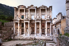 Celsus library Stock Image