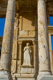 Celsus library in ancient antique city of Efes, Ephesus ruins. Ancient antique city of Efes Celsus library ruin in Turkey. Ancient Greek city Ephesus ruins on stock image