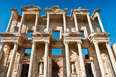 Celsus Library in Ephesus. The ruins of Celsus Library in Ephesus Royalty Free Stock Image