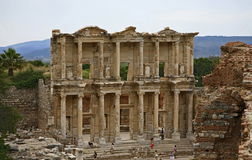 Celsus library in Ephesus ancient city Stock Photo