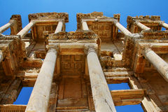 Celsus Library, Ephesus. Ancient library is one of the most beautiful structures in Ephesus, Turkey Stock Photo