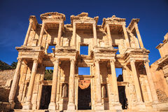 Celsus library. In ephesus, izmir, turkey Royalty Free Stock Photo