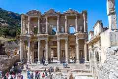 Celsus Library in Ephesus Stock Photo