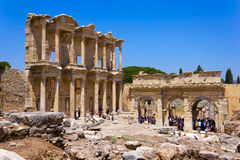 Celsus Library in Ephesus, Turkey. The library of Celsus is an ancient building in Ephesus, Anatolia, now part of Turkey Stock Photo