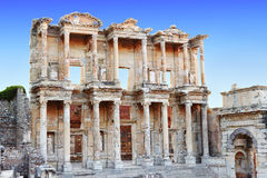 Celsus library. In Ephesus, Turkey Royalty Free Stock Images