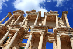 Celsus Library in Ephesus Stock Images