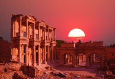 Celsus Library in Ephesus, Turkey Royalty Free Stock Image