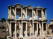 Celsus library ruin in Ephesus,Turkey Stock Photos