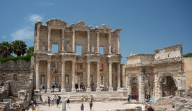 Celsus Library sightseeing Royalty Free Stock Photos