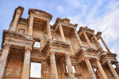 Celsus Library of Turkey. This image was taken in Ephesus, Turkey. Celsus Library is the most famous visiting point in Ephesus Royalty Free Stock Image