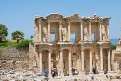 Celsusbibliotheek in Ephesus, Turkije Stock Fotografie
