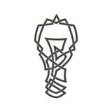 Celta wzór w postaci żarówki Zdjęcie Royalty Free