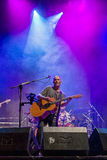 Celtas Cortos in Sagunt. 2016 tour. Sagunto, Spain - Friday July 15, 2016 : Jesus Cifuentes and his Celtas Cortos rock band. First concert of his 2016 summer Royalty Free Stock Photo