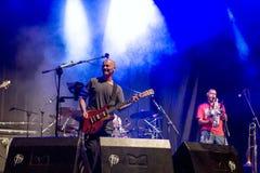 Celtas Cortos in Sagunt. 2016 tour. Sagunto, Spain - Friday July 15, 2016 : Jesus Cifuentes and his Celtas Cortos rock band. First concert of his 2016 summer Stock Images