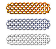 Celtic. Knots design on white background - 3d illustration Royalty Free Stock Photos