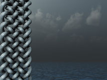 Celtic. Knots design in dark water landscape - 3d illustration Royalty Free Stock Images