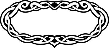 Celtic Abstract Border Royalty Free Stock Photos