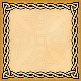 Celtic background. With twisted frame and ornament watermark royalty free illustration
