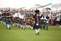 Celtic Bagpipe Band Stock Photos