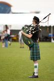 Celtic Bagpipe Player Stock Photo