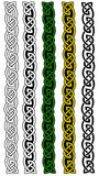 Celtic borders. Celtic ornament knots on white background. Each knot is made of interlacing wires. The borders come in five different variations royalty free illustration