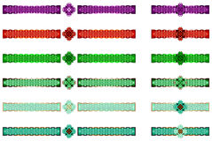 Celtic borders. Variety of colorful celtic borders Royalty Free Stock Photography