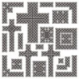 Celtic borders and crosses vector illustration