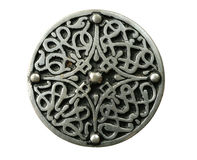 celtic brooch изолировал Стоковые Фотографии RF
